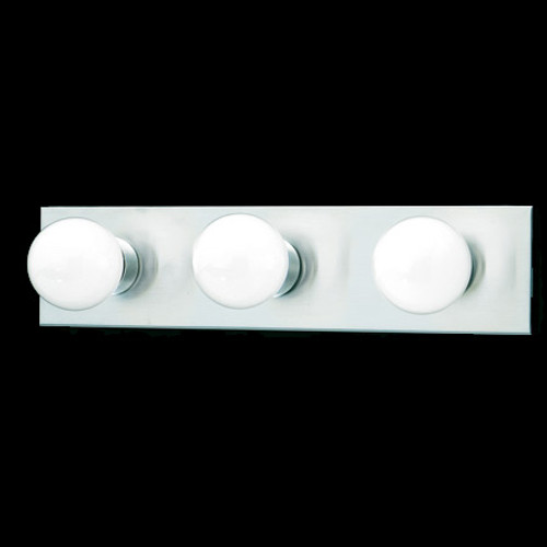 Wall Lights By Thomas Three-light bath fixture in a Brushed Nickel finish. SL741378