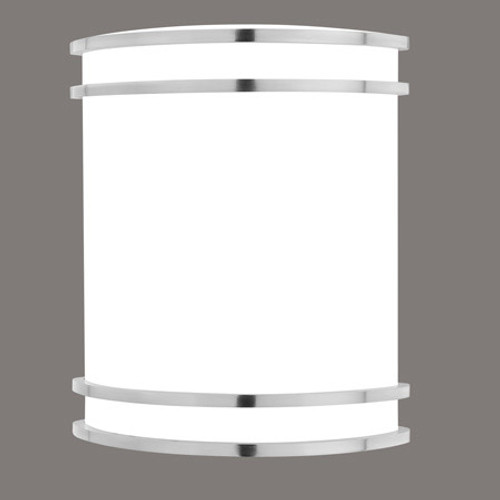 Wall Lights By Thomas One-light fluorescent wall sconce in Brushed Nickel finish with white acrylic diffuser. 12V electron SL746078