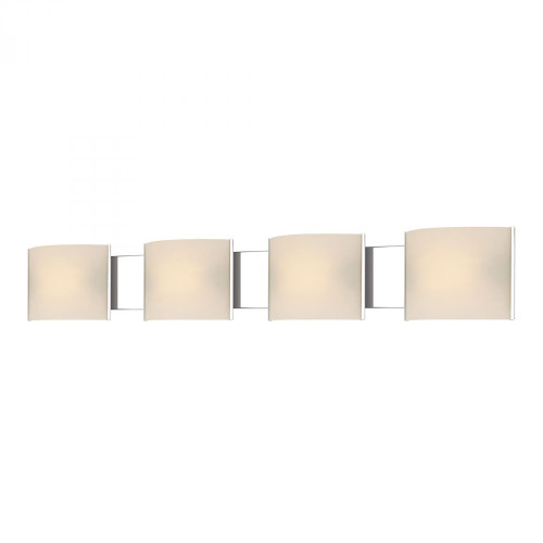 Wall Lights By Alico Pannelli 4 Light Vanity In Chrome And Hand-Molded White Opal Glass BV714-10-15
