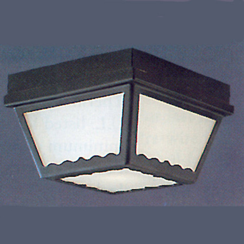Outdoor Lights By Thomas Two-light Black finish plastic outdoor light with white plastic diffuser. SL7597