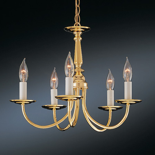Chandeliers/Mini Chandeliers By Thomas Five-light chandelier in Brushed Nickel Finish. SL800378
