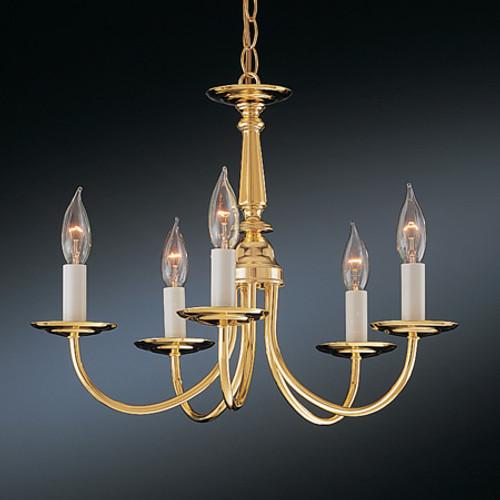 Chandeliers/Mini Chandeliers By Thomas Five-light chandelier in Brushed Nickel Finish. SL800378
