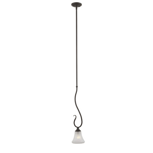 Chandeliers/Pendant Lights By Thomas One-light mini-pendant in Painted Bronze Finish with swirl alabaster style glass. SL829163