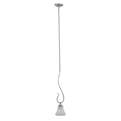 Chandeliers/Pendant Lights By Thomas One-light mini-pendant in Brushed Nickel Finish with swirl alabaster style glass. SL829178