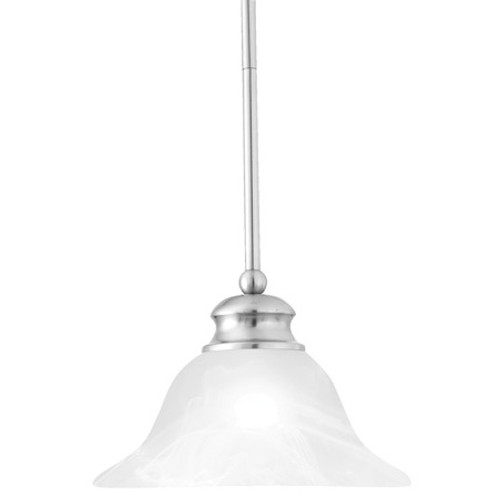 Chandeliers/Pendant Lights By Thomas One-light pendant in Brushed Nickel finish. Alabaster style glass shade. SL829678