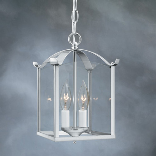 Chandeliers/Mini Chandeliers By Thomas Two-light pendant in Brushed Nickel finish. Clear glass panels. SL847978