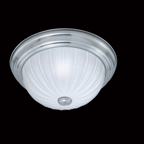 Ceiling Lights By Thomas One-light ceiling fixture in a Brushed Nickel finish with etched melon glass SL868178