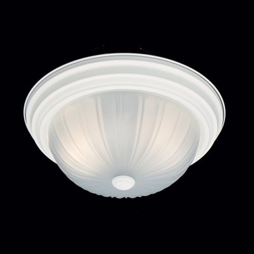 Ceiling Lights By Thomas Two-light ceiling fixture in a Textured White finish with etched melon glass SL868218