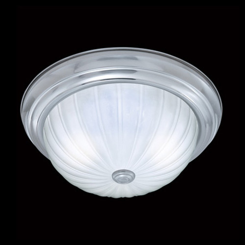 Ceiling Lights By Thomas Two-light ceiling fixture in a Brushed Nickel finish with etched melon glass SL868278