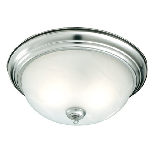 Ceiling Lights By Thomas One-light ceiling mount fixture in Brushed Nickel finish. Etched alabaster style glass SL869178