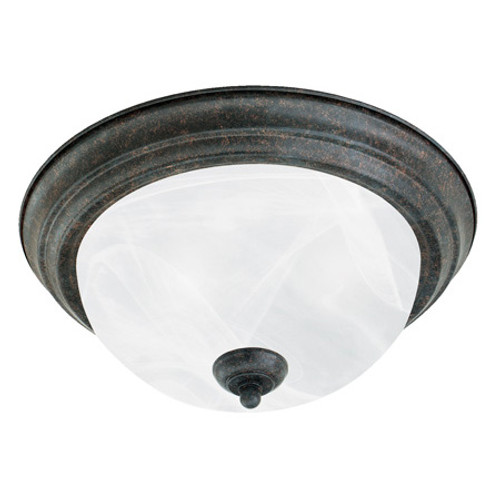 Ceiling Lights By Thomas Two-light ceiling mount fixture in Sable Bronze finish. Etched alabaster style glass SL869222