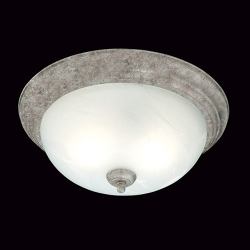 Ceiling Lights By Thomas Two-light ceiling mount fixture in Painted Bronze Finish. Etched alabaster style glass SL869263