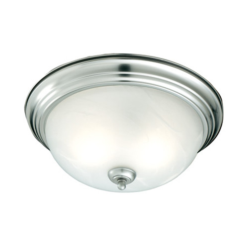 Ceiling Lights By Thomas Three-light ceiling mount fixture in Brushed Nickel finish. Etched alabaster style glass SL869378