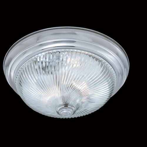 Ceiling Lights By Thomas Two-light ceiling style in a Brushed Nickel finish with clear swirl glass SL876278