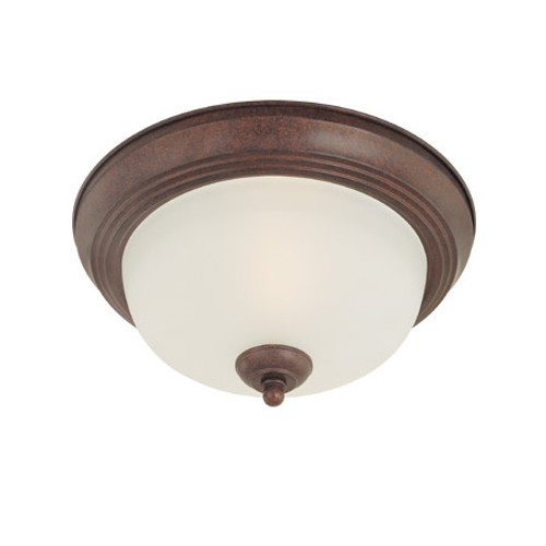 Ceiling Lights By Thomas One-light Oiled Bronze finish flushmount with etched glass. SL878115