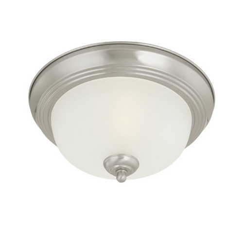 Ceiling Lights By Thomas One-light Brushed Nickel finish Flushmount with etched glass. SL878178