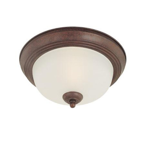 Ceiling Lights By Thomas Two-light ceiling flush mount in Colonial Bronze finish with etched glass. SL878223
