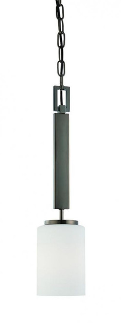 Chandeliers/Pendant Lights By Thomas Pendenza 20in One-light pendant in Oiled Bronze finish with etched glass SL891015