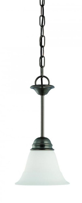 Chandeliers/Pendant Lights By Thomas One-light mini-pendant in Oiled Bronze finish with etched glass. SL891515