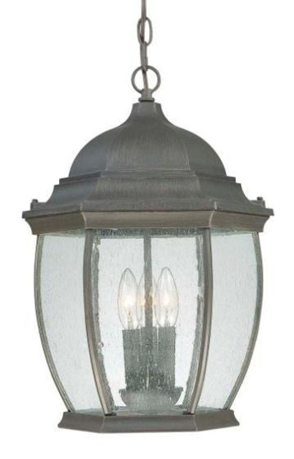 Outdoor Lights By Thomas One-light die-cast aluminum outdoor pendant lantern in Painted Bronze finish with clear seedy glass SL923363