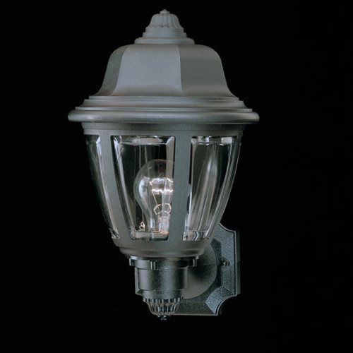 Outdoor Lights By Thomas Essentials 13.5in One-light, durable Black plastic outdoor wall fixture SL94407