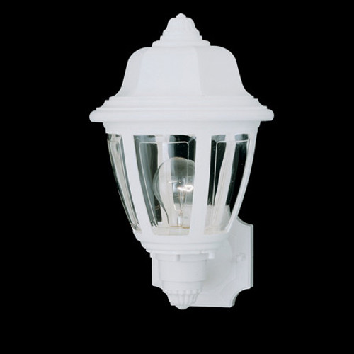 Outdoor Lights By Thomas Essentials 13.5in One-light, durable White plastic outdoor wall fixture SL94408