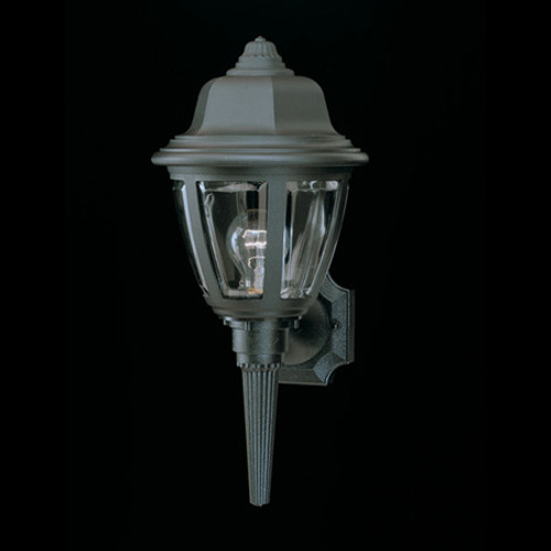 Outdoor Lights By Thomas Essentials 17.5in One-light, durable Black plastic outdoor wall fixture SL94427