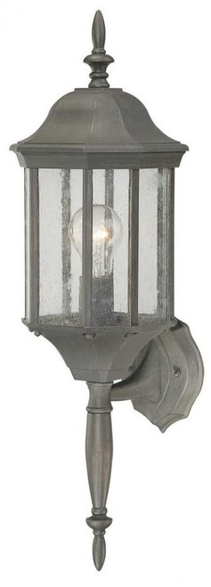 Outdoor Lights By Thomas HAWTHORNE 26in One-light die-cast aluminum outdoor wall lantern in Painted Bronze finish with seedy glass SL945163