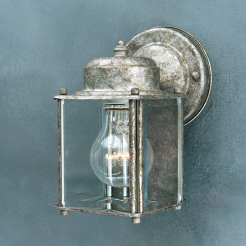 Outdoor Lights By Thomas One-light, Painted Bronze outdoor wall lantern with clear beveled glass panels. SL946963