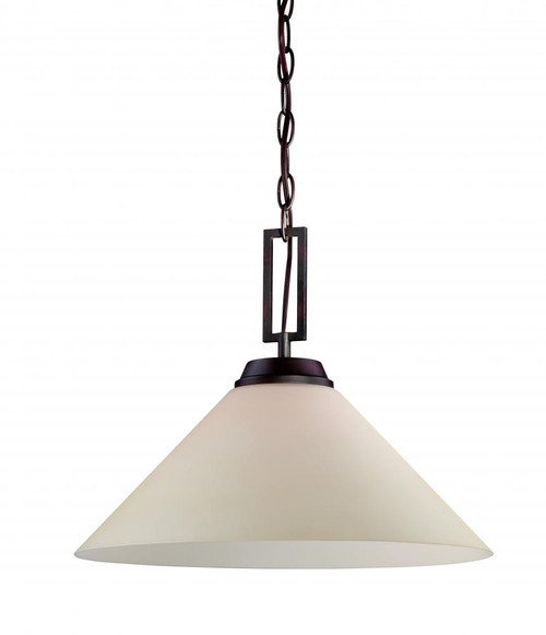Chandeliers/Pendant Lights By Thomas Wright 0in One-light pendant in Espresso finish with Champagne glass shade TC0007704