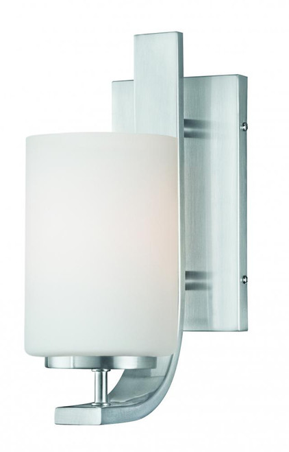Wall Lights By Thomas Pendenza 11.5in One-light wall sconce in Brushed Nickel finish with etched glass TN0005217