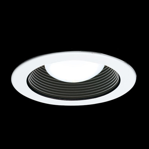 """Ceiling Lights/Recessed Lighting By Thomas 4"""" Black Stepped Baffle for PS4-series housings. TR401"""