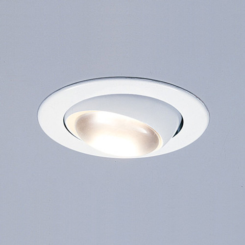 """Ceiling Lights/Recessed Lighting By Thomas 4"""" White Adjustable Eyeball for PS4-series housings. TR408"""