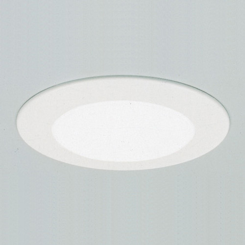 "Ceiling Lights/Recessed Lighting By Thomas 6"" Non-IC Shower Trim. White Albalite Shower Light. Aluminum trim ring, no reflector, for non-IC TSH12"