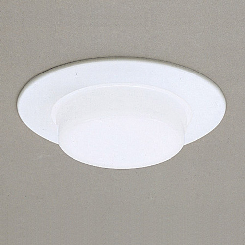 """Ceiling Lights/Recessed Lighting By Thomas 6"""" Shower Trims White Drop Opal Shower Light Aluminum trim ring, no reflector, for non-IC application TSH16"""