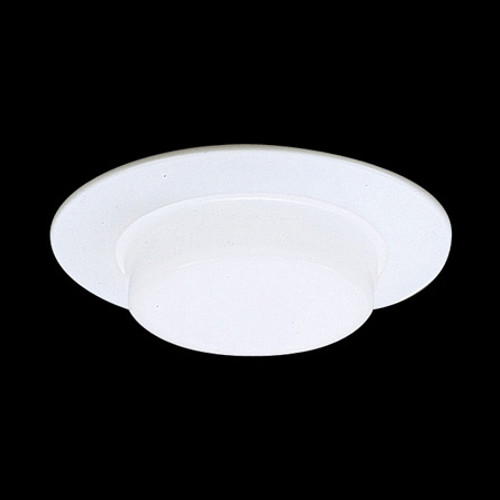 "Ceiling Lights/Recessed Lighting By Thomas 6"" Shower Trim White Drop Opal Shower Light Aluminum trim ring, with reflector, for IC Application TSH16IC"