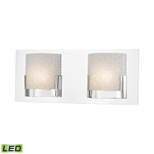 Wall Lights By Alico Ophelia 2 Light LED Vanity In Chrome And Clear Glass BVL1202-0-15