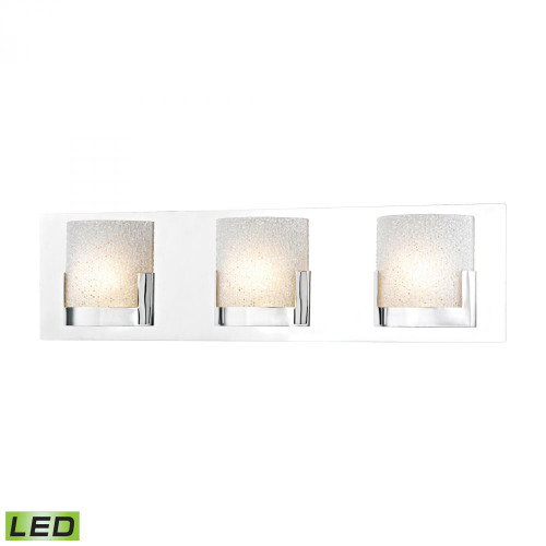 Wall Lights By Alico Ophelia 3 Light LED Vanity In Chrome And Clear Glass BVL1203-0-15