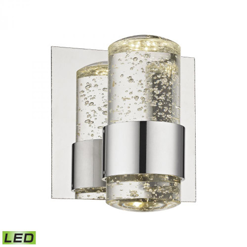 Wall Lights By Alico Surrey 1 Light LED Vanity In Chrome And Bubbled Glass BVL151-0-15