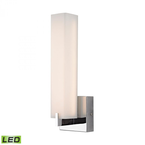 Wall Lights By Alico Moderno LED 1 Light Wall Sconce In Chrome And White Opal Glass BVL281-10-15