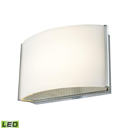 Wall Lights By Alico Pandora LED 1 Light LED Vanity In Chrome And Opal Glass BVL911-10-15