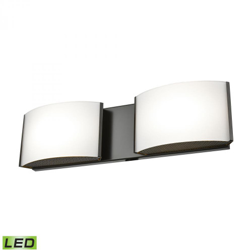 Wall Lights By Alico Pandora LED 2 Light LED Vanity In Oiled Bronze And Opal Glass BVL912-10-45