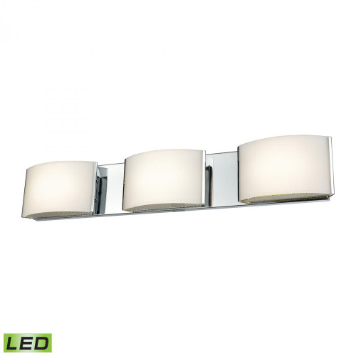 Wall Lights By Alico Pandora LED 3 Light LED Vanity In Chrome And Opal Glass BVL913-10-15