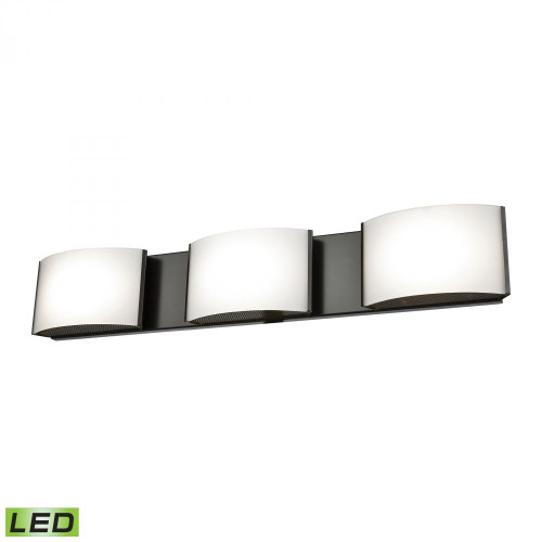 Wall Lights By Alico Pandora LED 3 Light LED Vanity In Oiled Bronze And Opal Glass BVL913-10-45