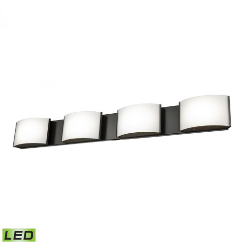 Wall Lights By Alico Pandora LED 4 Light LED Vanity In Oiled Bronze And Opal Glass BVL914-10-45