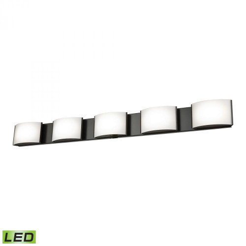 Wall Lights By Alico Pandora LED 5 Light LED Vanity In Oiled Bronze And Opal Glass BVL915-10-45