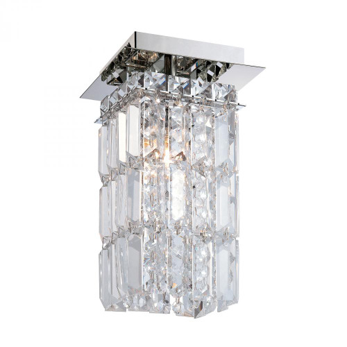 Ceiling Lights By Alico King 1 Light Flushmount In Chrome And Clear Crystal Glass FM1201-0-15