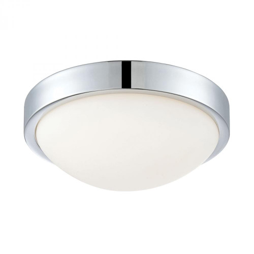 Ceiling Lights By Alico Sydney Flushmount In Chrome And White Opal Glass FML400-10-15