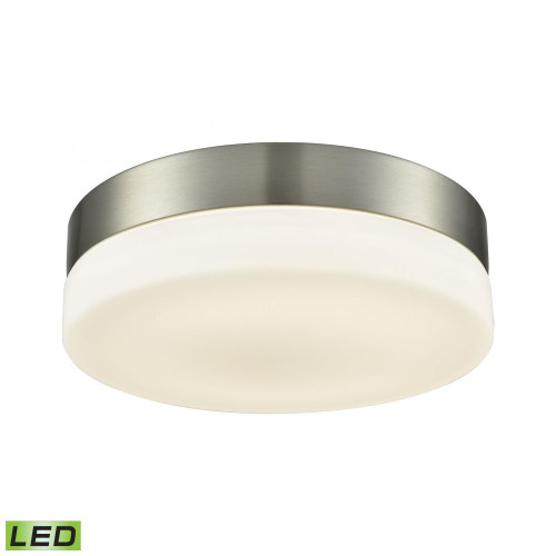 Ceiling Lights By Alico Holmby 1 Light Round Flushmount In Satin Nickel With Opal Glass - Medium FML4050-10-16M