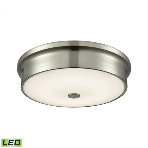 Ceiling Lights By Alico Towne Round LED Flushmount In Satin Nickel And Opal Glass - Small FML4225-10-16M